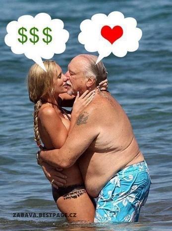 Ona peníze, on láska
