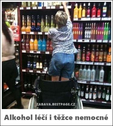 Alkohol léčí i těžce nemocné